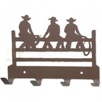 7in. Metal Wall Hooks - Cowboy Gathering - Rust
