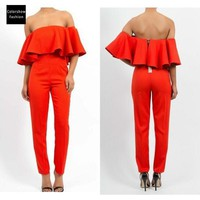 rompers womens jumpsuit 2016 Sexy Club orange Jumpsuit Playsuits And Women Jumpsuit mono Macacao rompers womens jumpsuit
