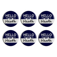 Heath Hello My Name Is Plastic Resin Button Set of 6