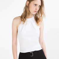 HALTER NECK TOP - View All-T-SHIRTS-WOMAN   ZARA United States