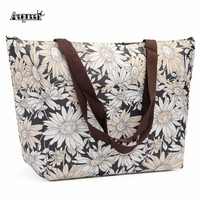 2017 new Lunch Bags Work School Thermal Bag Large Capacity Storage Food Bag Oxford Canvas Lunch Box Insulation Package Flower