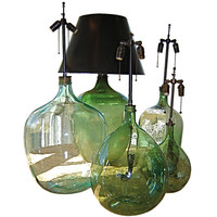 Laurin Copen Antiques - French Wine Bottle Lamps
