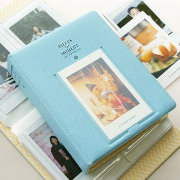 Fujifilm Instax Mini Film Album Polaroid Instant Photo Album Blue