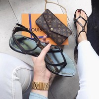 【Louis Vuitton】LV woman Fashion casual sandals