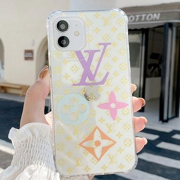 Louis Vuitton LV Fashion iPhone Phone Cover Case For iPhone 7 7plus 8 8plus X iPhone XR XS MAX 11 Pro Max 12 mini 12 Pro Max Yellow
