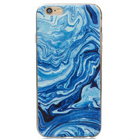 Natural Blue Marble Grain iPhone 7 7Plus & iPhone 6s 6 Plus Case Gift