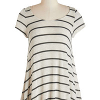 ModCloth Mid-length Short Sleeves Work from Home Office Tunic