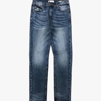 Dark Blue Characteristic Denim Jeans