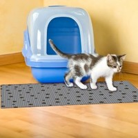 Drymate® Large Cat Litter Box Mat with Black Paw Print