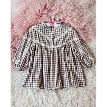 Stevie 70's Top in Taupe