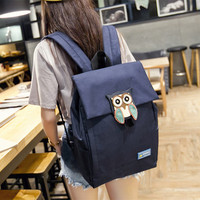 Cute Owl Design Large Backpack Travel Bag Daypack