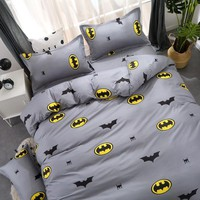 Juwenin Home Cartoon Stripe bedding sets/bed set/bedclothes  kids/bed linen Duvet Cover Bed sheet Pillowcase,twin full queen50
