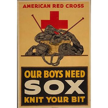 WWI Posters//Our boys need sox, knit your bit//WWI Art//World War Posters//Vintage Posters//Vintage Art