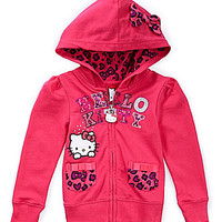 Hello Kitty 7-16 Pocketed Hoodie - Cerise