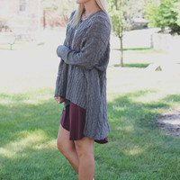 Cozy Up Sweater - Charcoal
