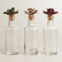 Ceramic Flower Round Glass Containers, Set of 3 - World Market