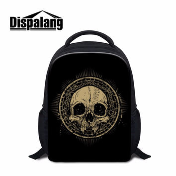 Cool School Backpacks for Kids Children Skull Printed Schoolbags Book Bags for Boys Girly Small Back Pack Patterns Stylish Bags