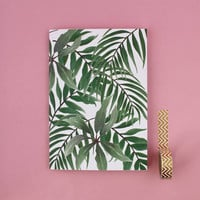 Tropical Paradise A5 Notebook, Handmade Sketchbook, Stationery Gift, Blank Lined Notebook