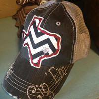 Texas A&M Aggies State Baseball Bling Ladies Womens Trucker Hat