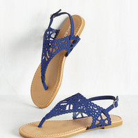 Engagement Picnic Sandal in Cobalt