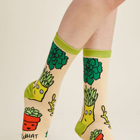Seedlings and Salutations Socks