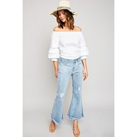 'Dazed and Confused' Frayed Jeans