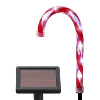 Philips Cool White Solar LED Candy Cane Lawn Stakes (6)
