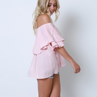 As Always And Ever Ruffle Top - Pink