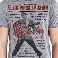 Elvis Presley Show Burnout Tee- Grey