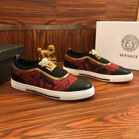 Versace Pop Slip On Sneakers Black/red - Best Online Sale