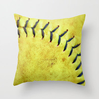 Softball. Sports Decor, Softball Pillow Cover, Ball Game Mancave