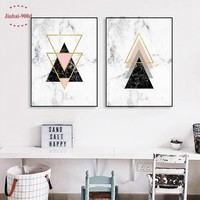 900D Posters And Prints Wall Art Canvas Painting Wall Pictures For Living Room Nordic Marble Picture Decoration NOR021