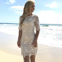 Exceed Expectations Crochet Dress