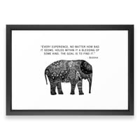 Society6 Buddha Quote With Hen Framed Print