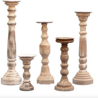 Set of 5 Sheffield Candle Holders