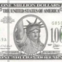 America One Million 1,000,000 (100000) Dollar Novelty Money, UNC, Play Currency