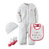 "carter's® Babysoft ""Most Adorable Ever"" Take Me Home Set in Pink/White"