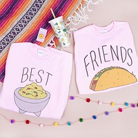 Best Friends Guac And Taco Duo Sweatshirt Set