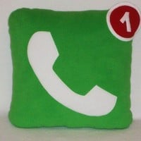 Phone Icon Pillow