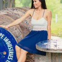 Navy Blue Cut Out Dress - $38.99 : FashionCupcake, Designer Clothing, Accessories, and Gifts