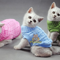 NEW Dog Cat Sweater Spagetti Color Warm Autumn Winter Dog Cat Sweater Pet Jumper Cat Clothes For Small Cat Dog Pets
