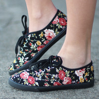 Favorite Canvas Sneakers {Floral}