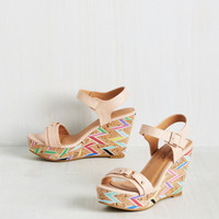Driven by Optimism Wedge in Rose   Mod Retro Vintage Heels   ModCloth.com