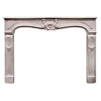 Attractive 18th Century French Louis XV Limestone Fireplace