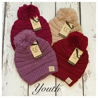"""Adorable Me"" Youth Pom Slouchie CC Beanies"