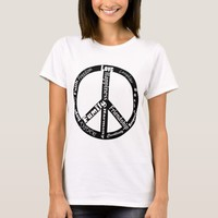 peace sign symbol Inspirational words art T-Shirt