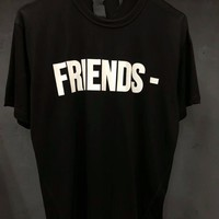 2018SS TOP VLONE Friend Big V 1:1 White letter Men Short sleeve T Shirt Kanye West Hip Hop Brand Fashion 100% Cotton Tee 18style