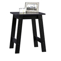 Sauder Beginnings Collection Side Table - Black - Home Furniture - Lounge, Living or Bedroom Furniture's - End Table - Black Finish That Matches a Variety of House Decors - 1 Year Warranty