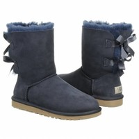 Women's UGG Bailey Bow Boot Navy Shoes.com