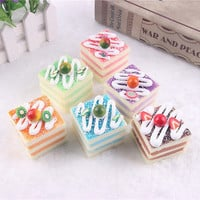 Kawaii Cartoon  Cake Roll Squishy Charm/Phone Pendant Strap Keychains HU